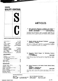 Industrial Quality Control PDF