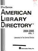 American Library Directory PDF