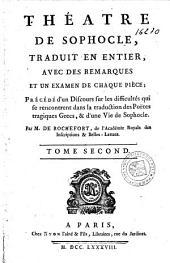 Théâtre de Sophocle: Volume2