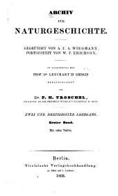 Archiv für Naturgeschichte: Band 32