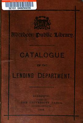 Catalogue of the Lending Department PDF