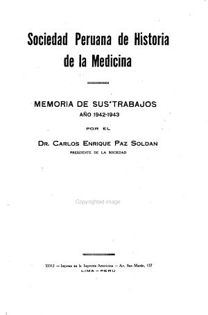 Sociedad peruana de historia de la medicina
