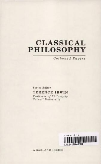 Classical Philosophy  Plato s ethics PDF