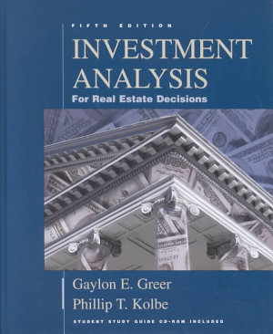 Investment Analysis for Real Estate Decisions PDF
