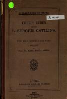 Reden gegen L  Sergius Catilina    PDF