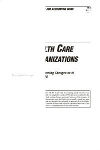 Health Care Organizations  with Conforming Changes as of May 1  1998 PDF