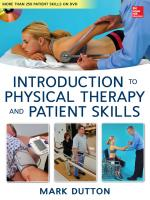 Dutton s Introduction to Physical Therapy and Patient Skills PDF