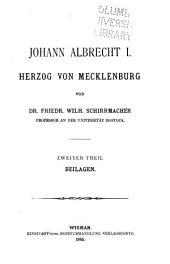 Johann Albrecht I, Herzog von Mecklenburg: Band 2