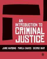 An Introduction to Criminal Justice PDF