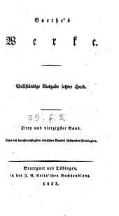 Goethe's Werke: Bände 15-16