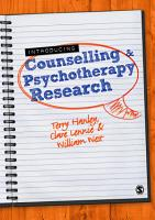 Introducing Counselling and Psychotherapy Research PDF
