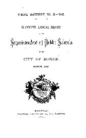 Documents of the School Committee of the City of Boston: Issue 12