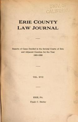 Erie County Law Journal PDF