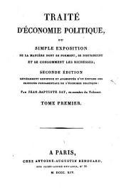 Traité d'économie politique: Volume1