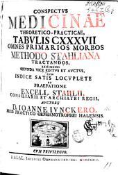 Conspectus Medicinæ theoretico-practicæ, Tabulis 137 omnes primarios morbos methodo Stahliana tractandos exhibens: secunda vice editus et auctus cum ... præfatione ... Stahlii, etc. MS. notes