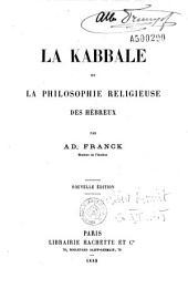 La kabbale, ou, La philosophie religieuse des Hébreux