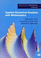 Applied Numerical Analysis with Mathematica PDF