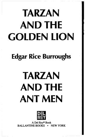 Tarzan 2 in 1 PDF
