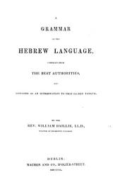 A Grammar of the Hebrew Language, etc