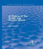 A History of the Greek and Roman World  Routledge Revivals  PDF