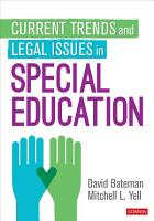 Current Trends and Legal Issues in Special Education PDF