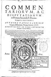 Commentariorum, ac disputationum in Primam Secundae S. Thomae Tomus secundus