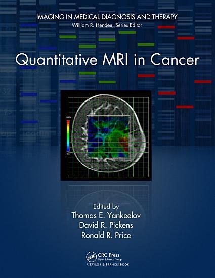 Quantitative MRI in Cancer PDF