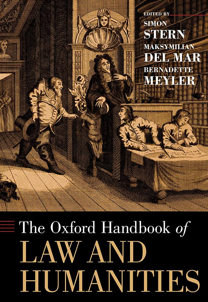 The Oxford Handbook of Law and Humanities