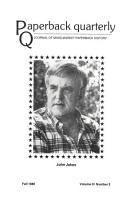 Paperback Quarterly  Vol  3 No  3  Fall 1980 PDF