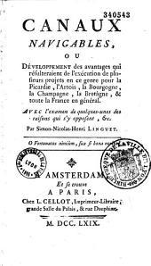 Canaux navigables... pour la Picardie et toute la France