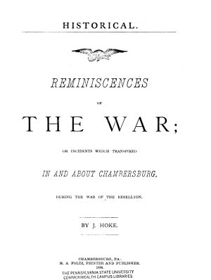 Historical Reminiscences of the War PDF