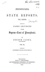 Pennsylvania State Reports: Volume 33