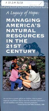 Managing America's natural resources in the 21st century