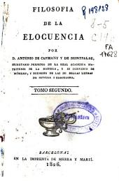 Filosofia de la elocuencia: Volumen 2