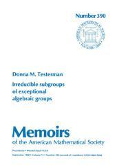 Irreducible Subgroups of Exceptional Algebraic Groups: Issue 390