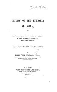 Tension of the eyeball and glaucoma  a paper