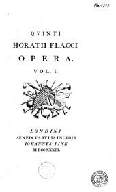 Qvinti Horatii Flacci opera: Volume 1