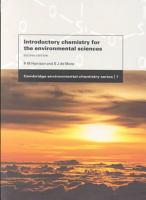 Introductory Chemistry for the Environmental Sciences PDF