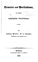 Demeter und Persephone PDF