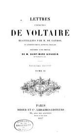 Lettres inédites de Voltaire