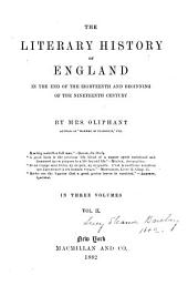 The Literary History of England in the End of the Eighteenth and Beginning of the Ninetheenth Century: Volume 2