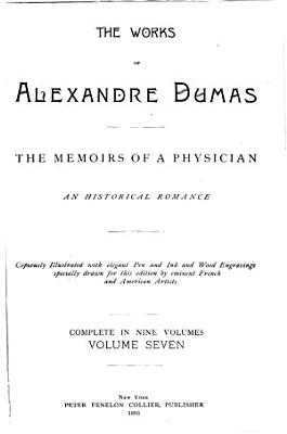 The Works of Alexandre Dumas  The memoirs of a physician PDF