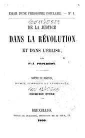 De la justice dans la révolution et dans l'église: 1