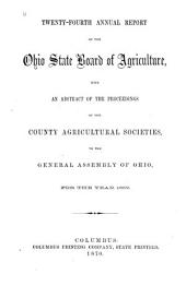 Annual Report of the Ohio State Board of Agriculture: Volume 24, Part 1869