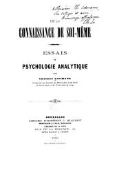 De la connaissance de soi-même: essais de psychologie analytique
