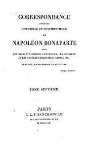 Correspondance inédite, officielle et confidentielle [ed. by C.T. Beauvais].