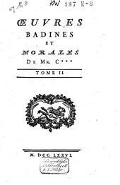 Œuvres badinez et morales: Volume2
