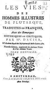 Les vies des hommes illustres de Plutarque: Volume7