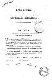 Trattato elementare di geometria analitica per Vincenzo Janni: Analisi a due coordinate, Volume 1