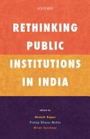 Rethinking Public Institutions in India PDF